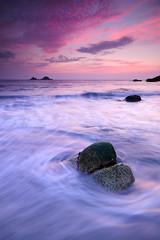Last catch of the day (Stu Meech) Tags: sunset sea portrait water rock nikon soft cornwall stu hard sigma porth 1020mm grad orientation foreground swirling meech sloshing nanven 06nd d300s