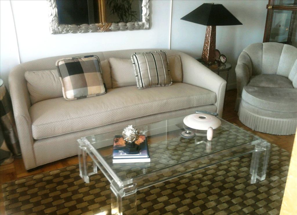 Couch coffee table and chair with ottoman