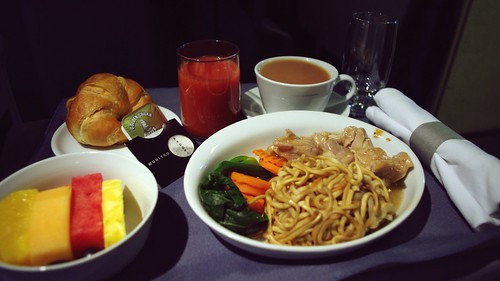 Business Class Inflight Meal - United Airlines