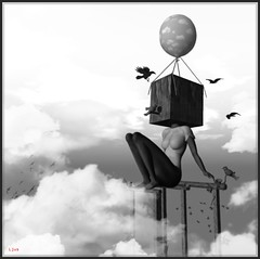 Birds in my mind II... ([Ljus] Patricia vs NatG) Tags: bw birds avatar balloon sl dreams needs sly feelings yip galleryofdreams eovsimpressive