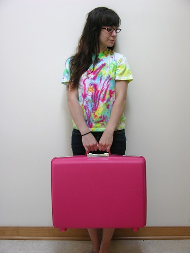 Awesome Pink Vintage Suitcase!