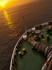 Fo'c'sle Head (frogdog*) Tags: sunset deck ropes bits englishchannel forecastle anchorchain mooringropes sunsetatsea doverstraits tivresolution focslehead mpiresolution gettyimageswants capstains shipmooringropes gypsywhinch
