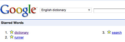 Google Star Dictionary