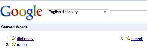Google Star Dictionary
