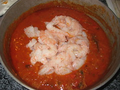 adding shrimp last