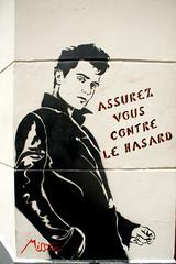 Assurez vous contre le hasard (dprezat) Tags: street urban streetart paris art painting stencil tag graf peinture aerosol bombe pochoir misstic bivre lzartsdelabivre sonyalpha700