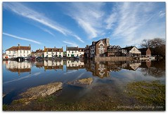 Wareham reflections (Terry Yarrow) Tags: uk sea england water canon reflections river landscape flood dorset hightide wareham riverfrome eos5d