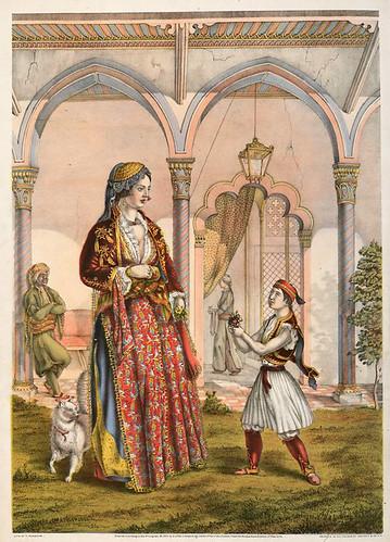 010-Señora Turca de Rango (en casa)-The oriental álbum 1862- J.H. Van Lennep