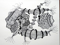 Untitled (KimberlyJDC) Tags: ink drawing doodles zentangles zendoodles
