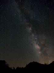Milky Way from Caliente Wilderness Area (DanB.) Tags: california longexposure iso3200 backpacking astrophotography pacificcresttrail f4 230am milkyway warnersprings noisereduction clevelandnationalforest 40d calientewilderness hillstreesdarkness