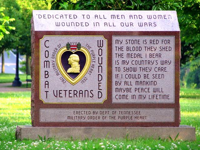 Clarksville Patriot Park Purple Heart Memorial
