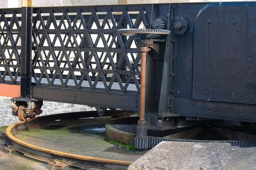 Mechanism on the Swingbridge at Castletown Harbour, Isle of Man.