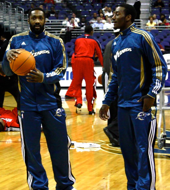 john wall, gilbert arenas, washington wizards