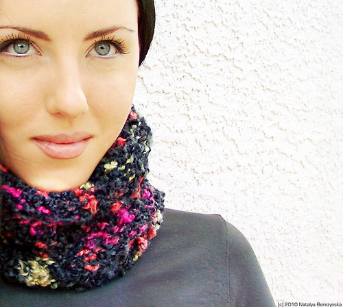 Knitted Mohair Boucle Cowl