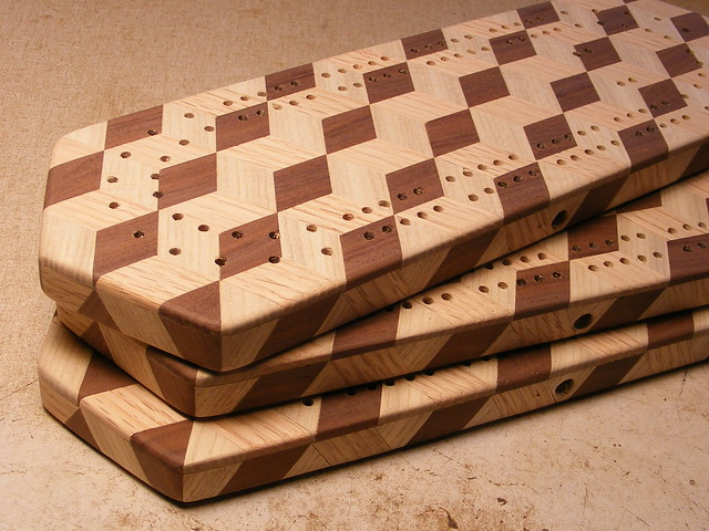 Making a Tumbling Block Cribbage Board #31