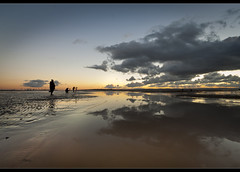 Toggs vs cloud, down on Crosby beach. Explore frontpage (Ianmoran1970) Tags: blue sunset sky orange cloud reflection wet reflections sand photographer sundown boots photographers explore frontpage tog seaforth muddyboots explored togg ianmoran ianmoran1970