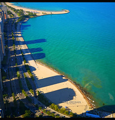 A View (_Paula AnDDrade) Tags: blue usa lake chicago azul shadows sombras