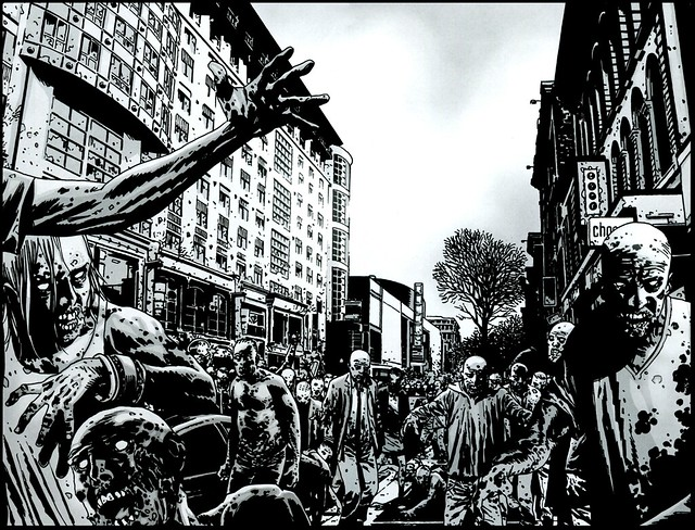 comic artwork The Walking Dead