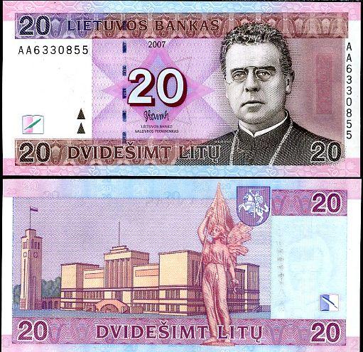 20 Litu Litva 2007, P69