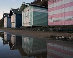 beach huts cromer (Vivvers) Tags: uk beach evening coast seaside lowlight sand dusk norfolk coastal shore beachhuts eastanglia cromer pinkblue northnorfolk cromerbeach northnorfolkcoast