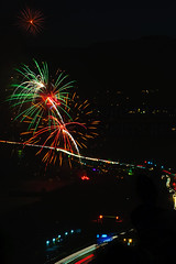 29 (morgan@morgangenser.com) Tags: pacificpalisaddes beach belairbayclub blue celebrate fireworks color iso100 july3rd loud nikon night ocean orange pch people red reflection special spectacular streaks timeexposire tripod yellow amazing