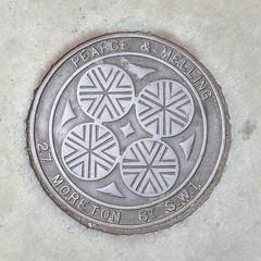 PEARCE & MELLING COALPLATE BELGRAVE ROAD PIMLICO (xxxxheyjoexxxx) Tags: coalplate coal plate iron shute vintage cover opercula plates coalplates lid lettering foundry london pimlico