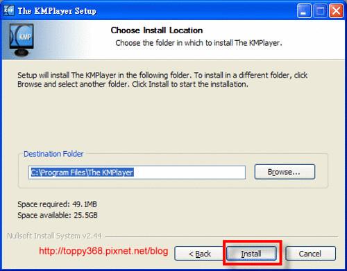 KMPlayer setup A4