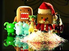 Merry Christmas! (willycoolpics.) Tags: christmas xmas reflection toys photo crossprocess group ox domo nutcracker merry domokun picnik uglydolls icebat babo yotsuba danbo revoltech danboard