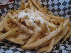 Queen's Louisiana Po' Boy - Garlic parmesan cheese fries
