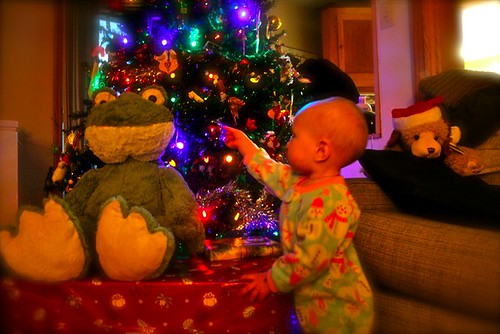 Zoey 1st Christmas - Frog