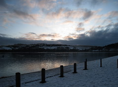 Moorings (Alexandra Mitchell) Tags: snow clouds scotland fife loch kinghorn kinghornloch