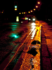 Prime3 (andyathlon) Tags: road street motion reflection cars wet water car rain swansea night 50mm prime lights movement traffic sam shots sony f18 refelections morriston a700 gowerton dt1850
