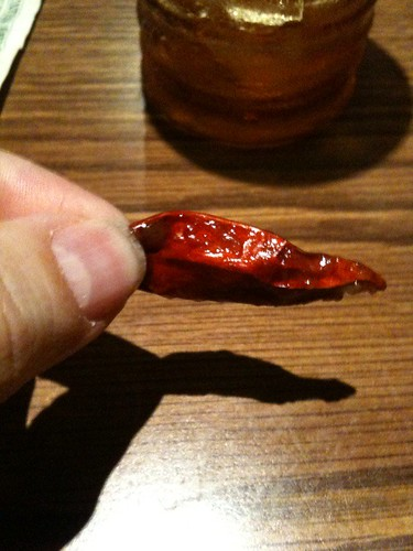 The red pepper in the Kung Pao Chicken