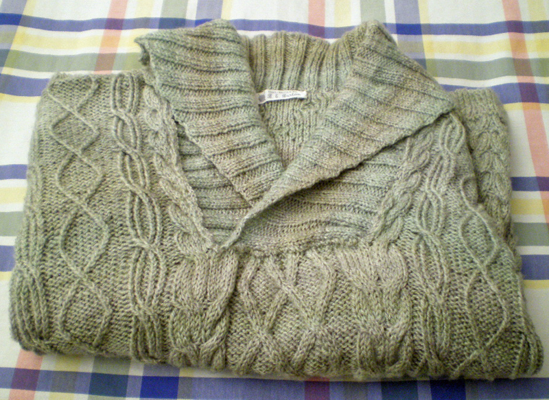 Dad's grey sweater