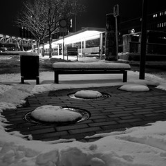 The Loss of Winter.. (Peter Rosbjerg) Tags: winter snow cold denmark herning heat danmark banegrd uninsulatedpipes sewerheatloss