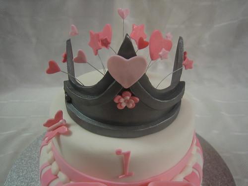 Excellent 1St Birthday Princess Cake A Photo On Flickriver Funny Birthday Cards Online Kookostrdamsfinfo