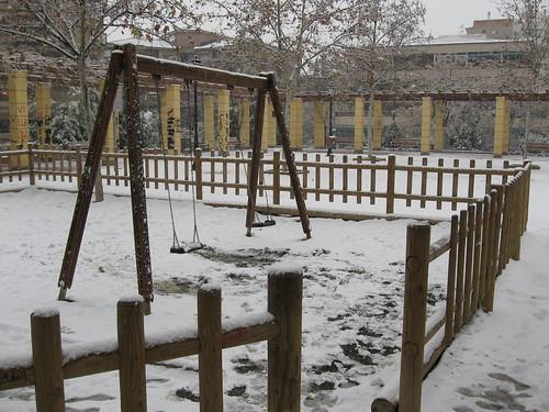 Columpio nevado