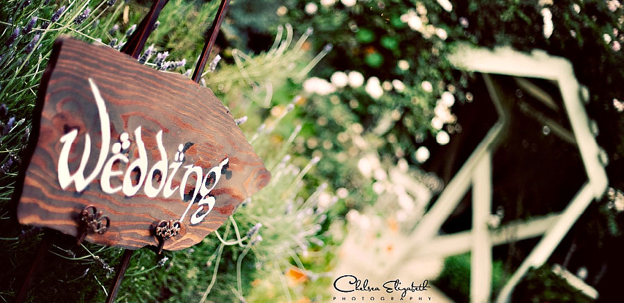 vintage garden wedding sign
