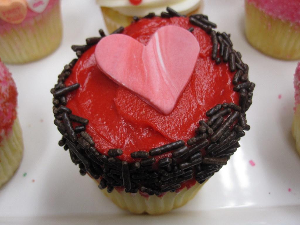 Heart Cupcake Close Up