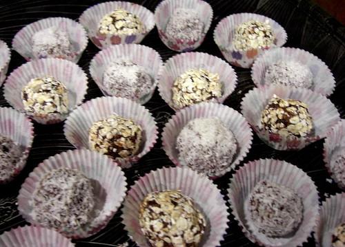 Oat and espresso truffles