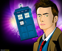 David Tennant is the doctor (Tom Trager) Tags: david color art photoshop fan tv who culture pop doctor bbc fi vector sci tennant