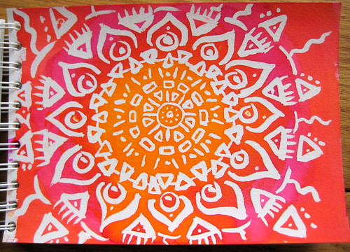 Batik Mandala using Frisket