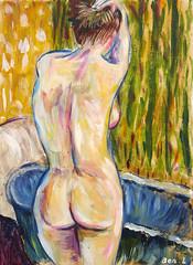 Postcard (Ben Levitt) Tags: nude nudes acrylic ben postcard figure postcards bathing lifedrawing levitt benlevitt