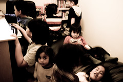 My batcave was transformed into a creche for the day (idlan) Tags: makan colchester fch