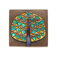 Mid-century tree wall plaque (Wooden donkey) Tags: ceramic danish pottery knabstrup