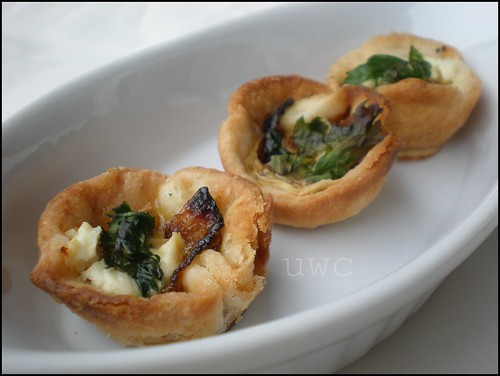 Mini Goat Cheese Quiches