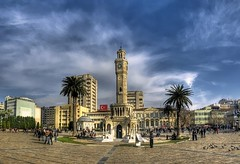 Konak Square, Izmir (Nejdet Duzen) Tags: city trip travel panorama cloud tower turkey square trkiye clocktower konak izmir bulut kule meydan turkei seyahat ehir saatkulesi saariysqualitypictures magiayfotografia