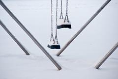 balance (beeldmark) Tags: winter snow lines geotagged europa europe sneeuw nederland swing simplicity balance nieuwegein schommel diagonals balans beeldmark geo:lat=52044463 geo:lon=509725
