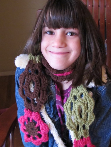 Cute Big Girl Scarf Photo #1