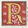 "Decorated initial ""R"" from Scriptores historiae Augustae"
